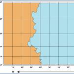 Carta náutica proyección Mercatore