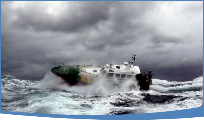 Curso de navegación con mal tiempo