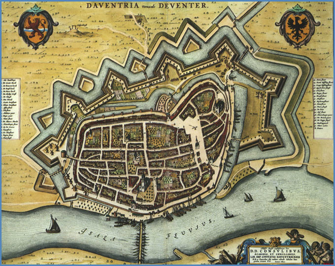 Mapa de Deventer