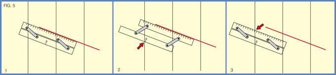 Medir rumbos determinados reglas paralelas