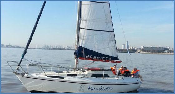 Nuestras embarcaciones - velero Mendieta