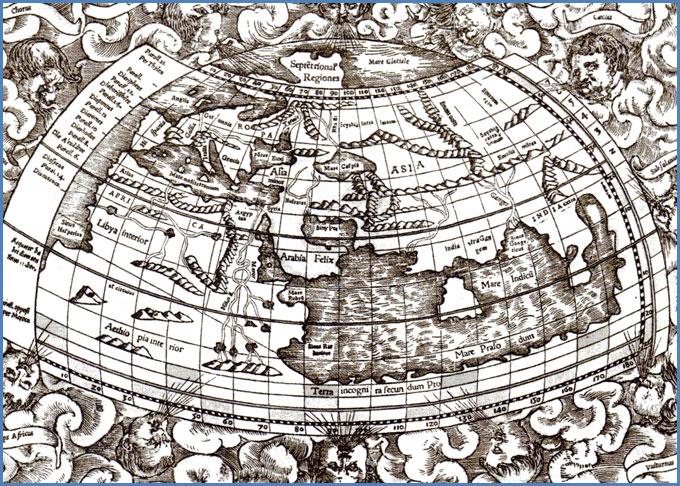 Mapa terrestre de Tolomeo